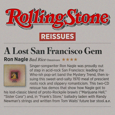 Ron Nagle Rolling Stone Clipping