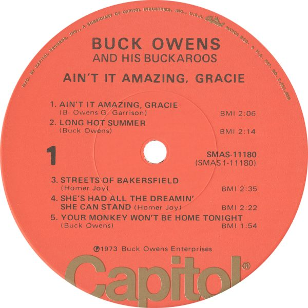 Buck Owens Vintage - Ain't It Amazing, Gracie