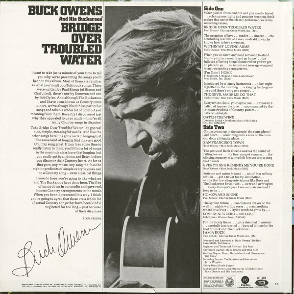 Buck Owens Vintage - Bridge Over Troubled Water