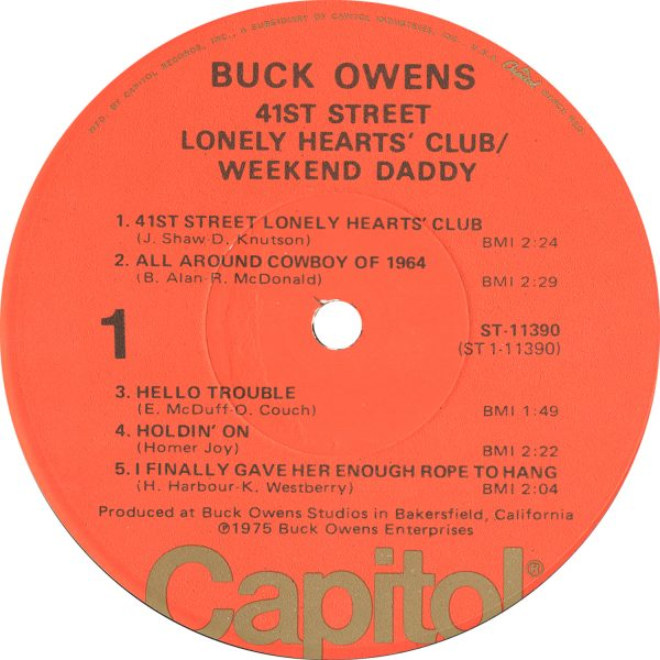 Owens - 41st Street Lonley Hearts' Club